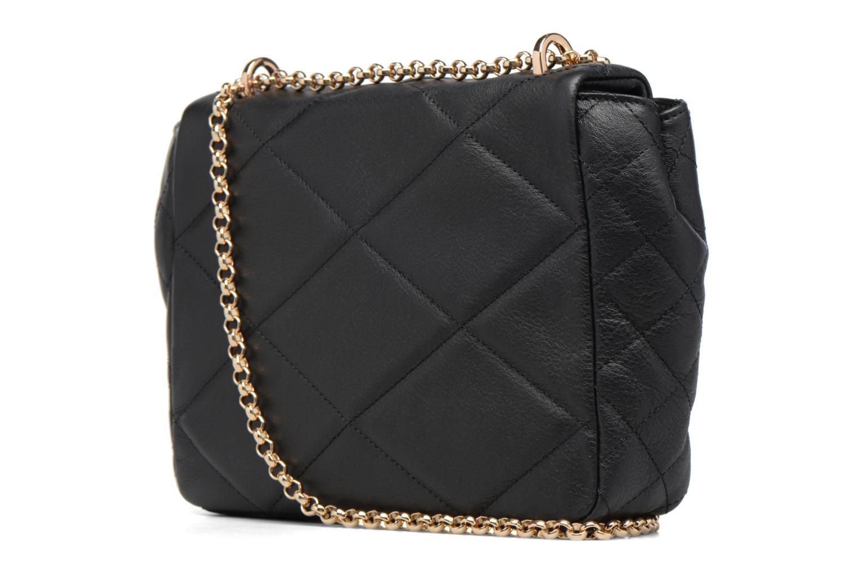 Sacs à main Guess LOU Leather Crossbody flap Noir vue droite