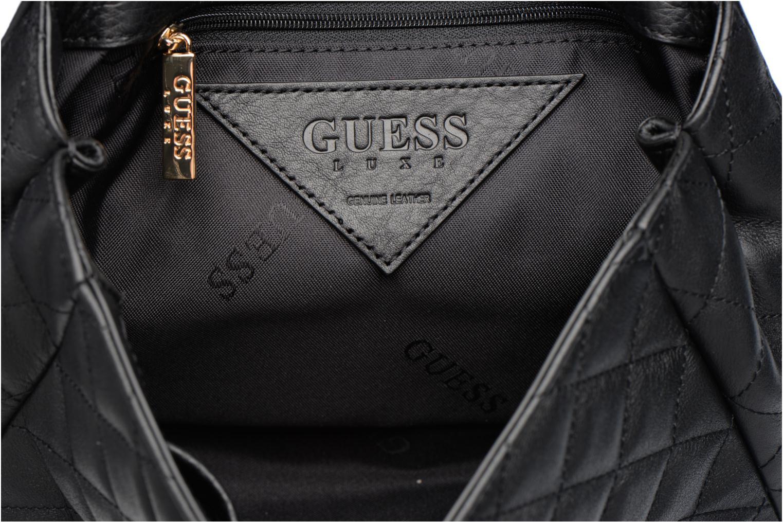 LOU Leather Crossbody flap Black