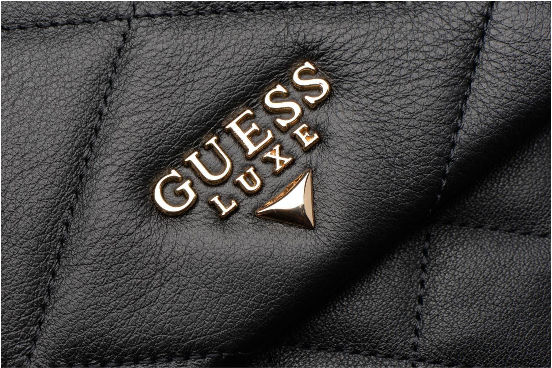 Sacs à main Guess LOU Leather Crossbody flap Noir vue gauche
