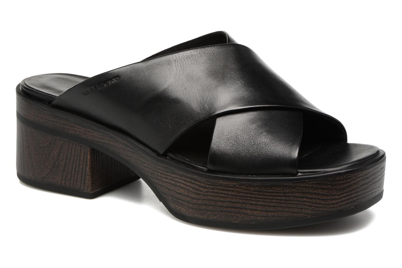 Wedges Vagabond Noor 4336-101 Zwart detail