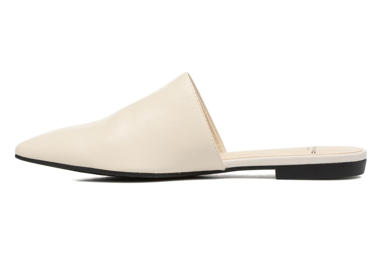 Zuecos Vagabond Shoemakers Katlin 4312-201 Blanco vista de frente