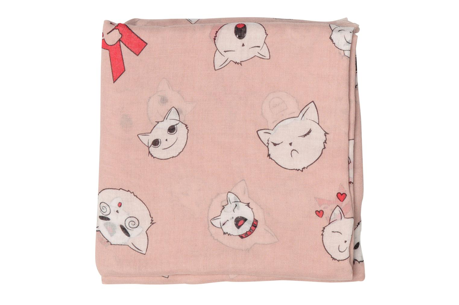 Divers Karl Lagerfeld Choupette faces Scarf Rose vue portées chaussures