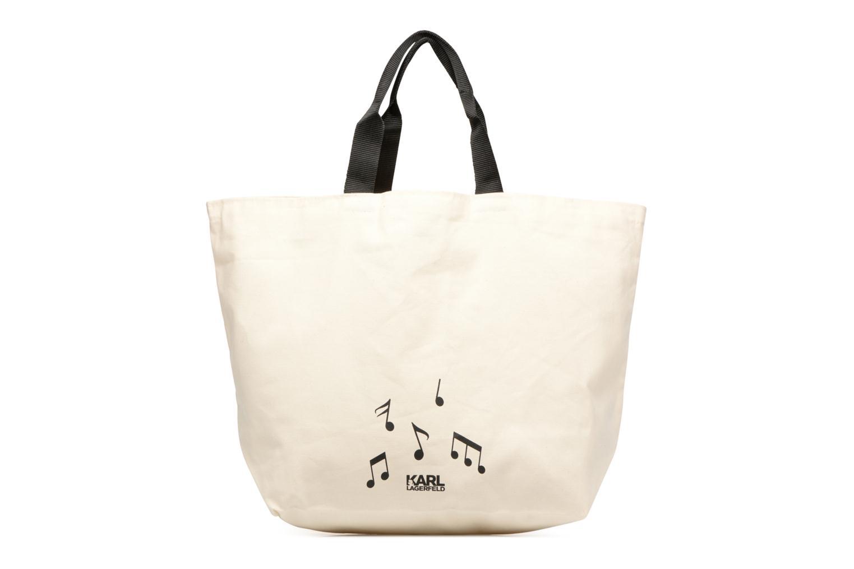 Sacs à main Karl Lagerfeld Canvas Music Shopper Blanc vue face
