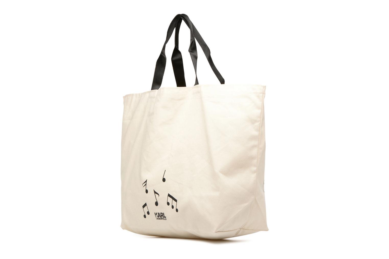Sacs à main Karl Lagerfeld Canvas Music Shopper Blanc vue droite