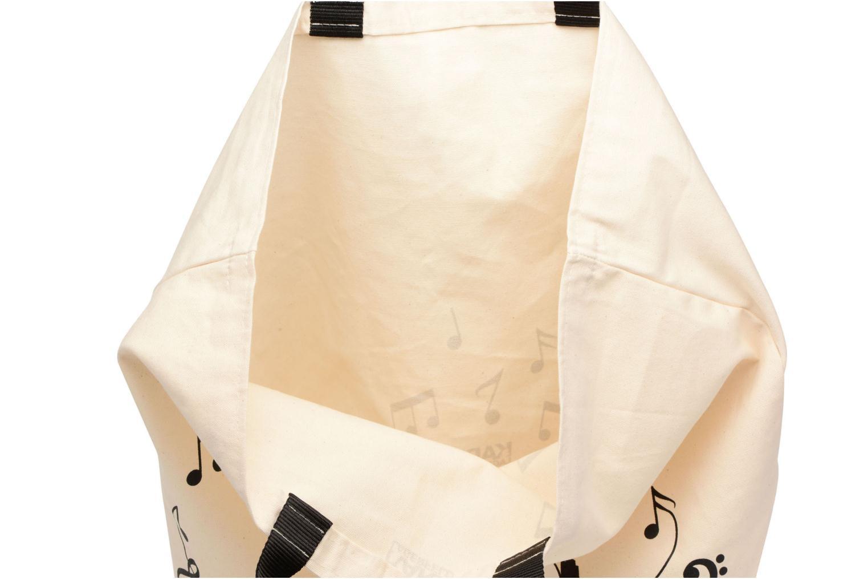 Sacs à main Karl Lagerfeld Canvas Music Shopper Blanc vue derrière