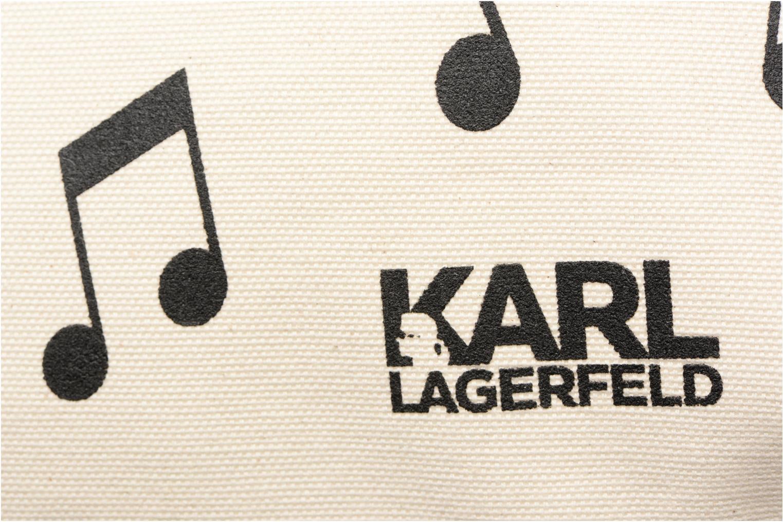 Sacs à main Karl Lagerfeld Canvas Music Shopper Blanc vue gauche
