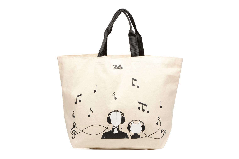 Sacs à main Karl Lagerfeld Canvas Music Shopper Blanc vue détail/paire