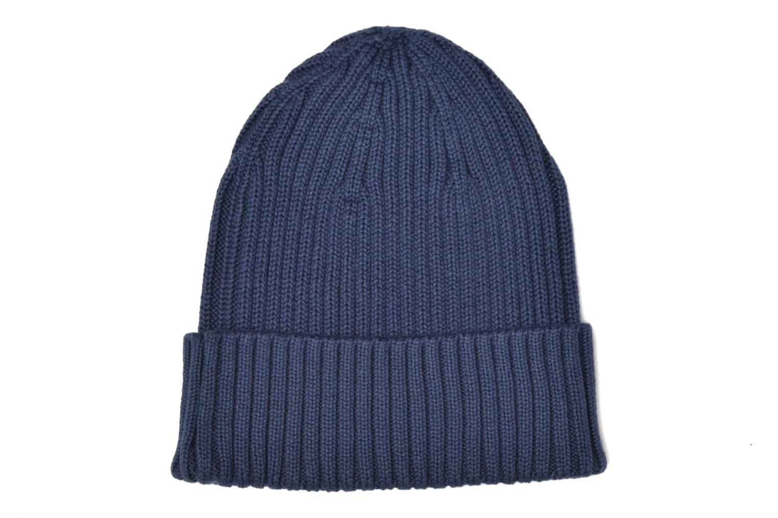 Divers Fred Perry COTTON RIBBED BEANIE Bleu vue portées chaussures