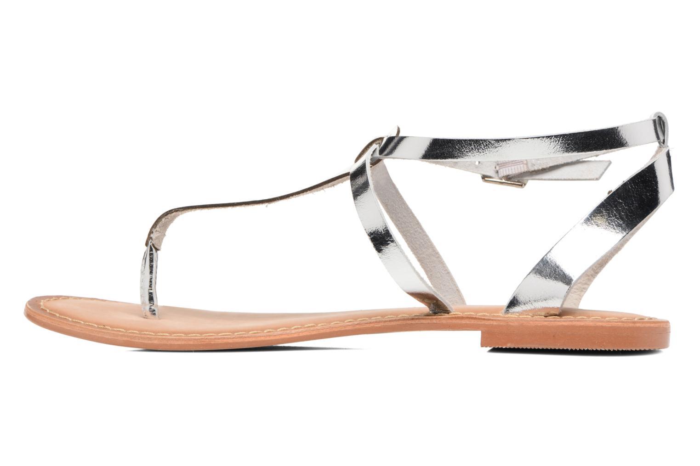 Sandales et nu-pieds Vero Moda Anneli Leather Sandal Argent vue face