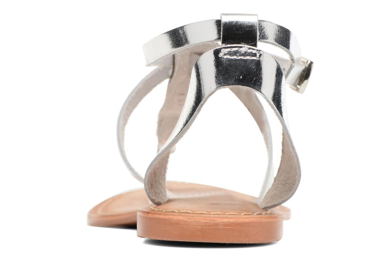 Sandales et nu-pieds Vero Moda Anneli Leather Sandal Argent vue droite