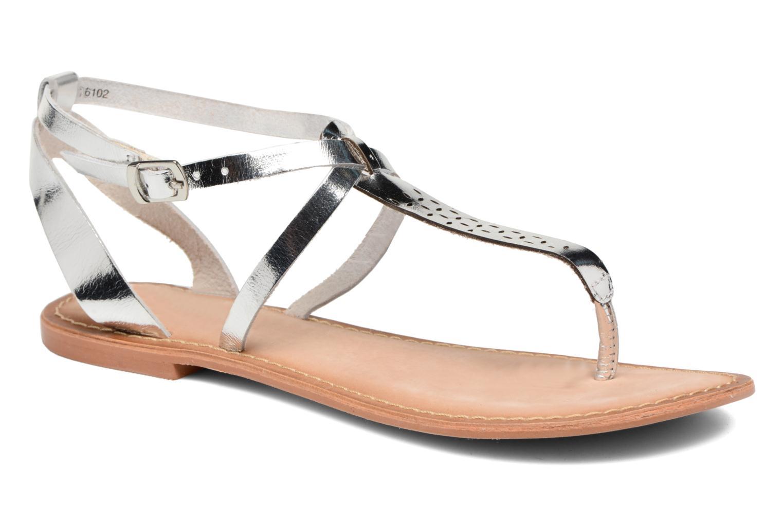 Sandales et nu-pieds Vero Moda Anneli Leather Sandal Argent vue détail/paire