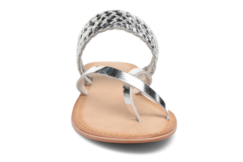 Mules et sabots Vero Moda Malva Leather Sandal Argent vue portées chaussures