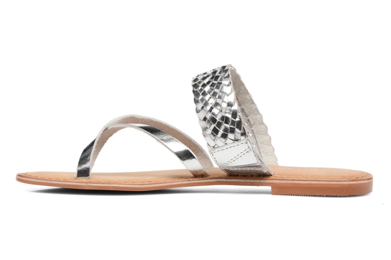 Wedges Vero Moda Malva Leather Sandal Zilver voorkant