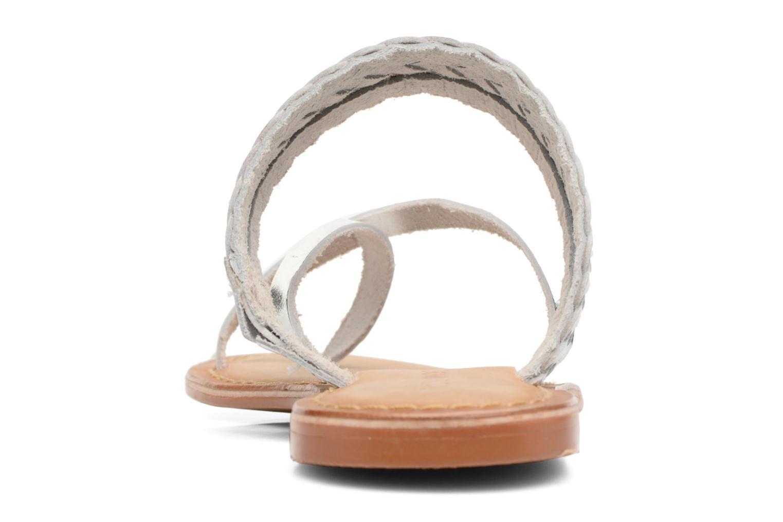 Wedges Vero Moda Malva Leather Sandal Zilver rechts