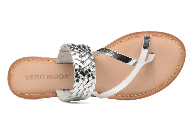 Wedges Vero Moda Malva Leather Sandal Zilver links