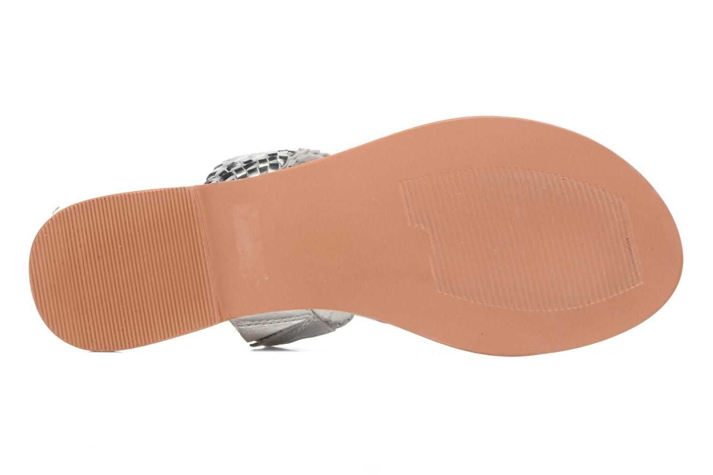 Wedges Vero Moda Malva Leather Sandal Zilver boven