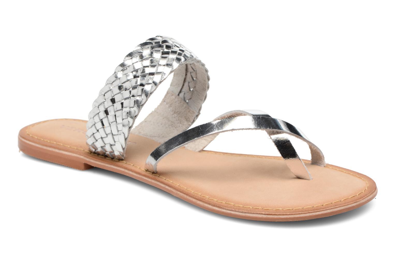 Mules et sabots Vero Moda Malva Leather Sandal Argent vue détail/paire