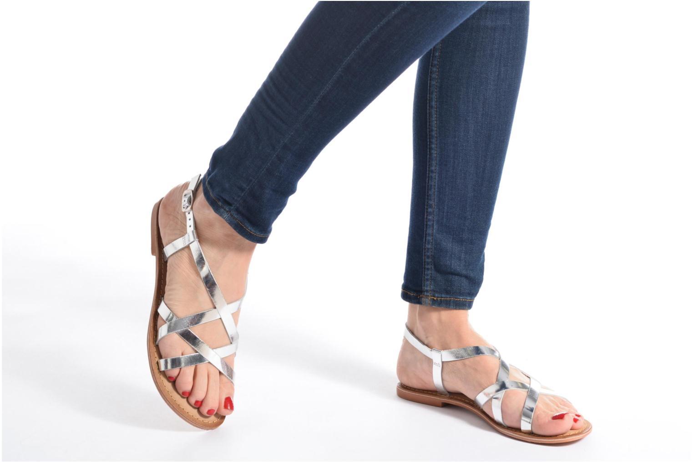 Sandales et nu-pieds Vero Moda Vina Leather Sandal Noir vue bas / vue portée sac