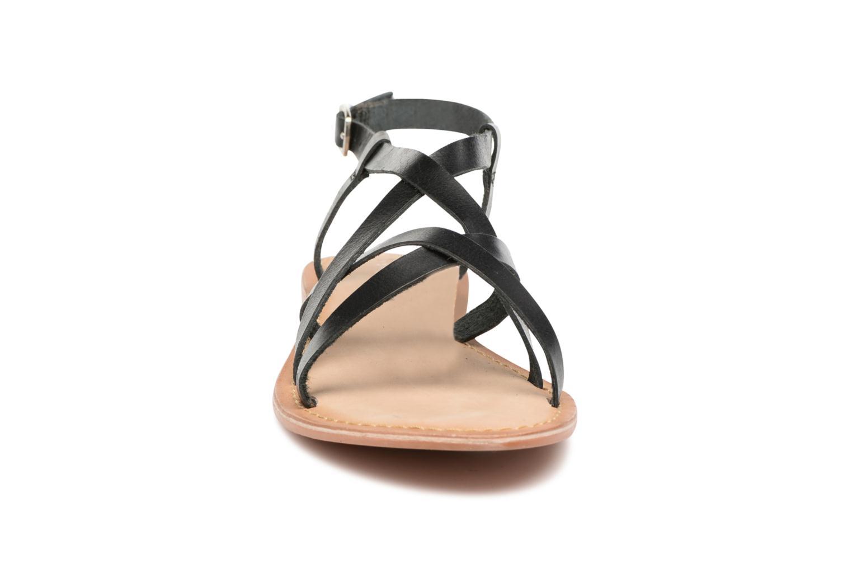 Sandales et nu-pieds Vero Moda Vina Leather Sandal Noir vue portées chaussures