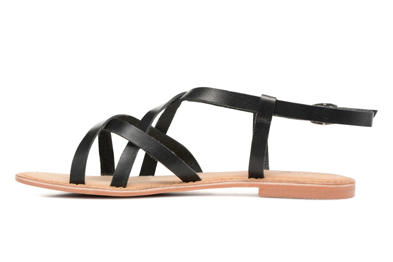 Sandales et nu-pieds Vero Moda Vina Leather Sandal Noir vue face