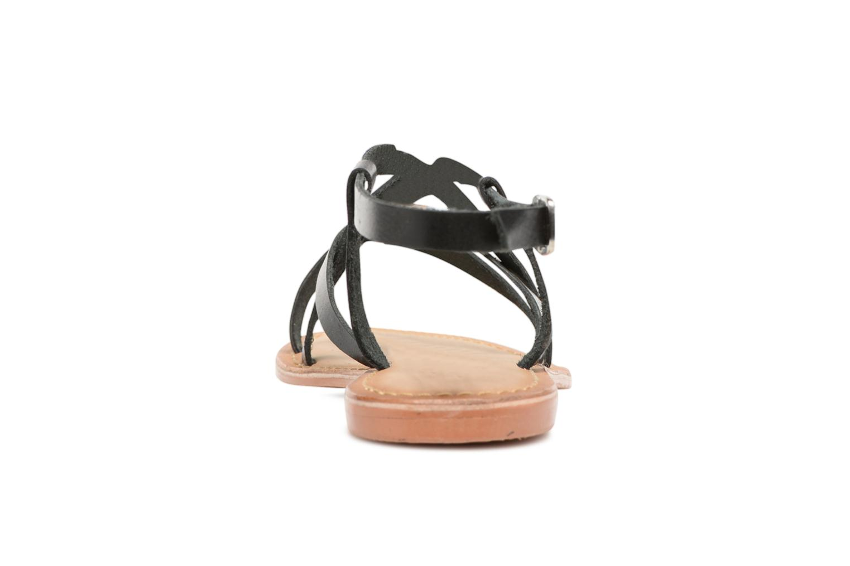 Sandales et nu-pieds Vero Moda Vina Leather Sandal Noir vue droite