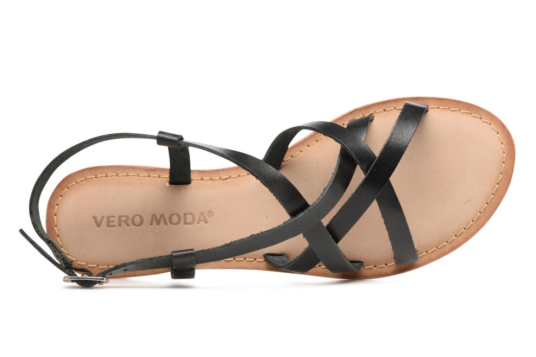 Sandales et nu-pieds Vero Moda Vina Leather Sandal Noir vue gauche