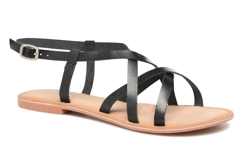 Sandales et nu-pieds Vero Moda Vina Leather Sandal Noir vue détail/paire