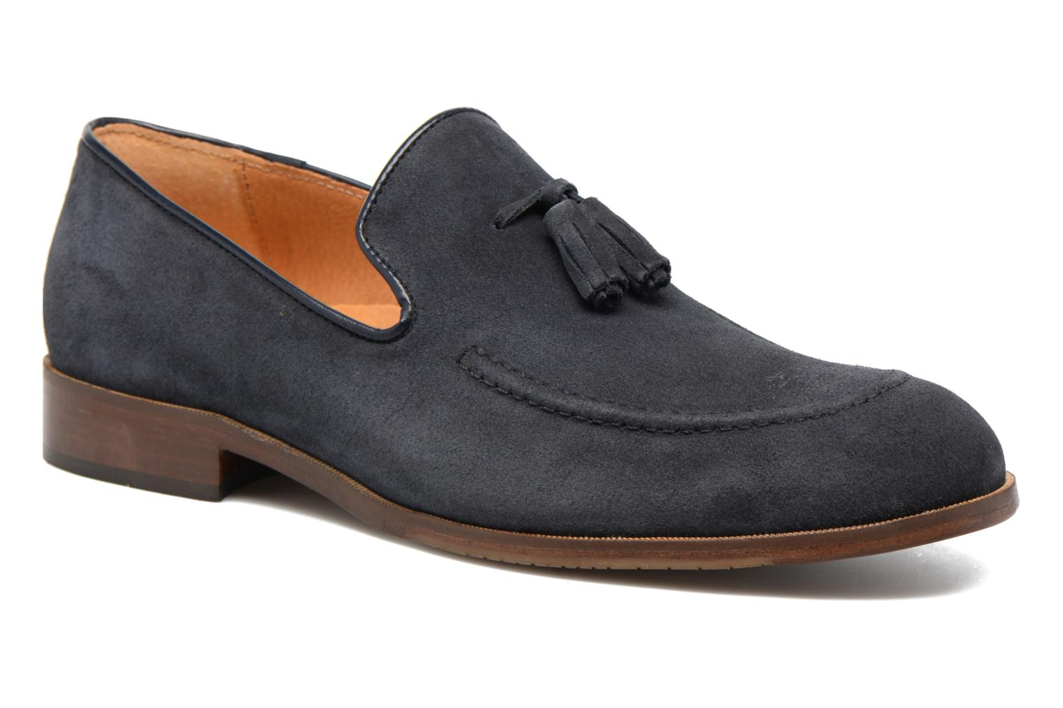 Mocassins Marvin&Co Newmains Blauw detail