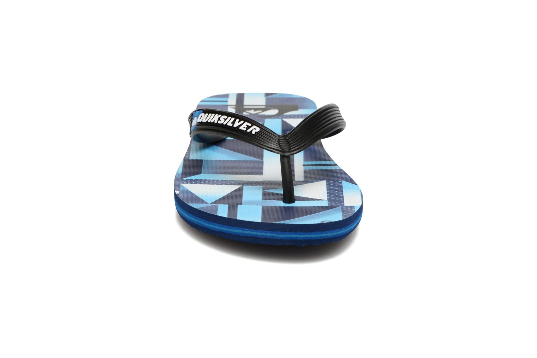Tongs Quiksilver Moloch B Bleu vue portées chaussures