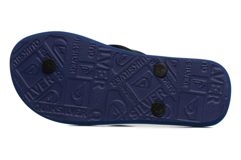 Tongs Quiksilver Moloch B Bleu vue haut