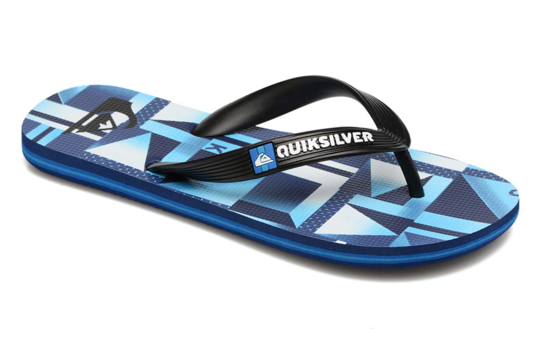 Tongs Quiksilver Moloch B Bleu vue détail/paire