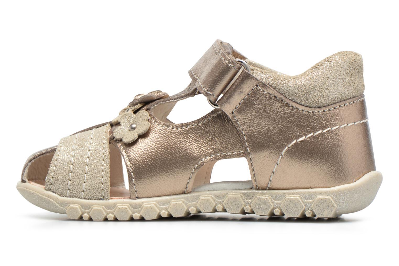 Sandales et nu-pieds Primigi Belinda Or et bronze vue face