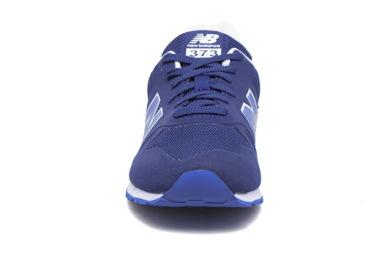 Baskets New Balance KD373 J Bleu vue portées chaussures