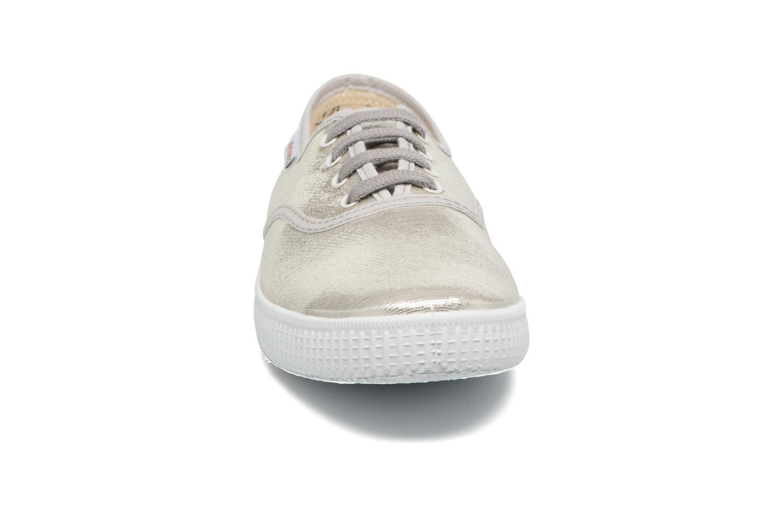 Baskets Victoria Ingles Tejido Tornosolado Argent vue portées chaussures