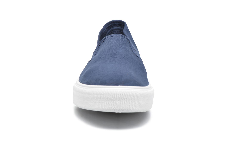 Baskets Victoria Copete Elastico Lona Piso Ne Bleu vue portées chaussures