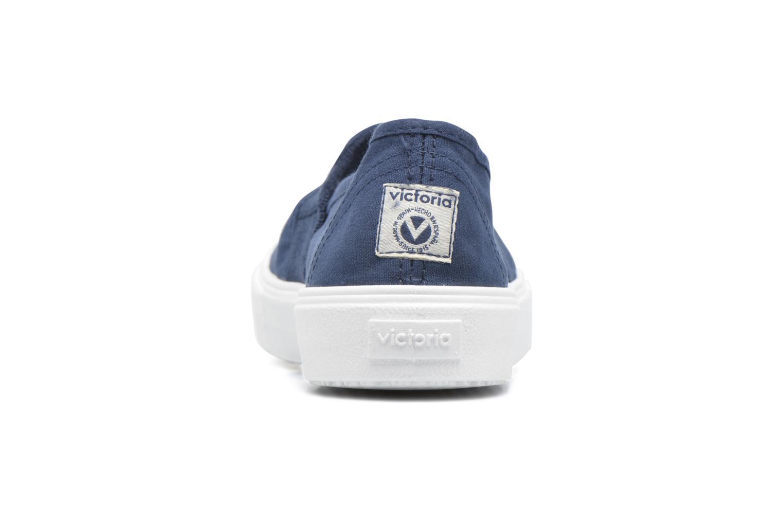 Baskets Victoria Copete Elastico Lona Piso Ne Bleu vue droite