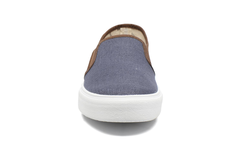 Baskets Victoria Slip On Piel Grabada Coco Bleu vue portées chaussures