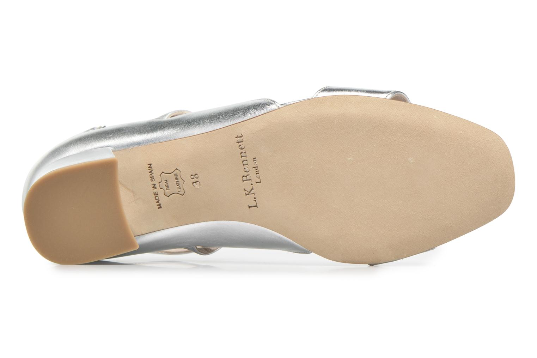 Sandales et nu-pieds L.K. Bennett Dina Argent vue haut