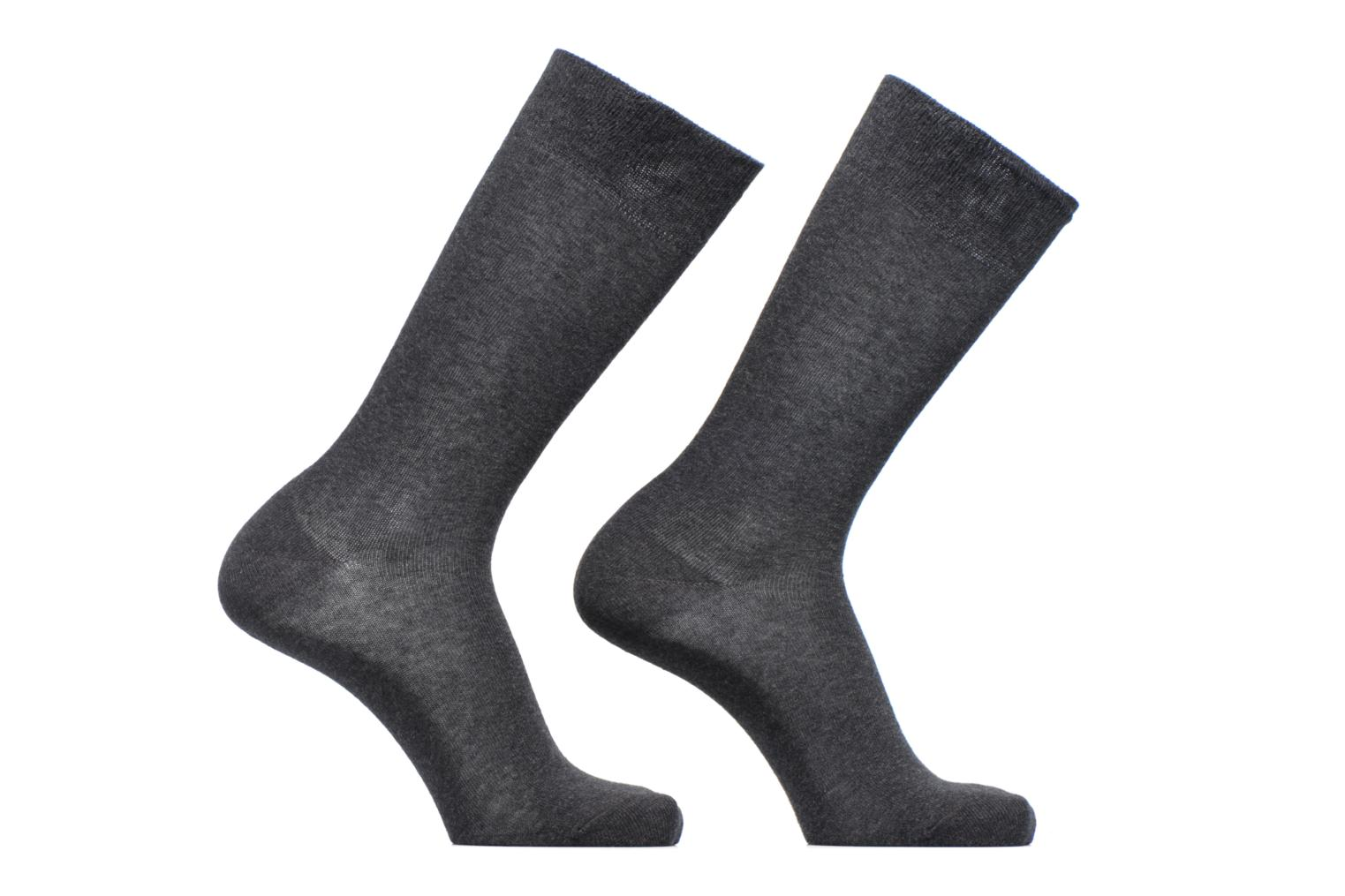Chaussettes SWING TWOPACK Pack de 2 Coton 3080 ANTHRACITE MEL.
