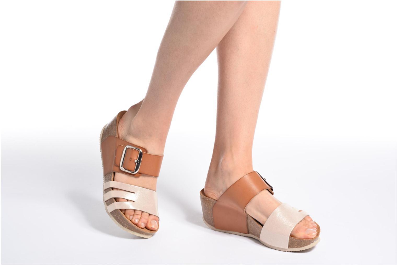 Sandales et nu-pieds Rondinaud Cance Rose vue bas / vue portée sac