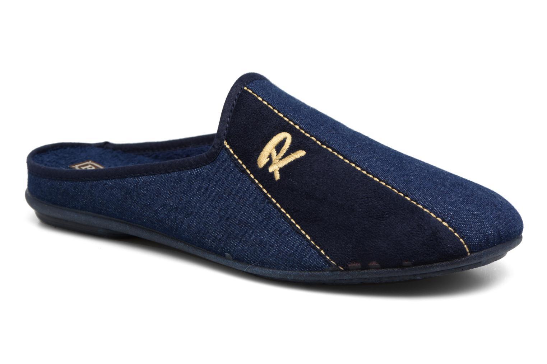 Chaussons Rondinaud Airan Bleu vue détail/paire