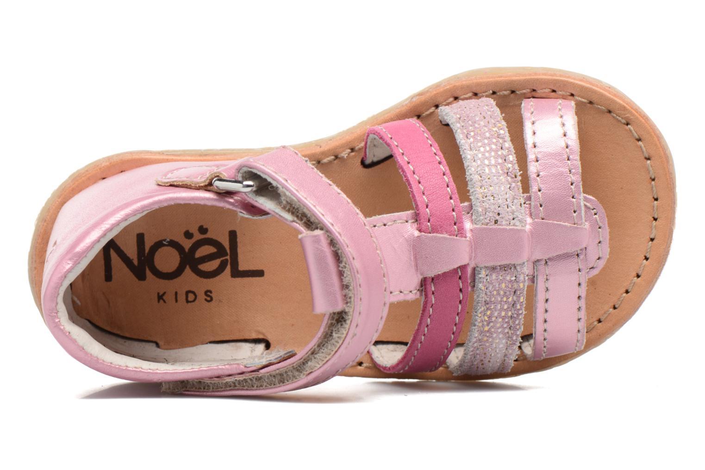 Sandales et nu-pieds Noël Mini Serva Rose vue gauche