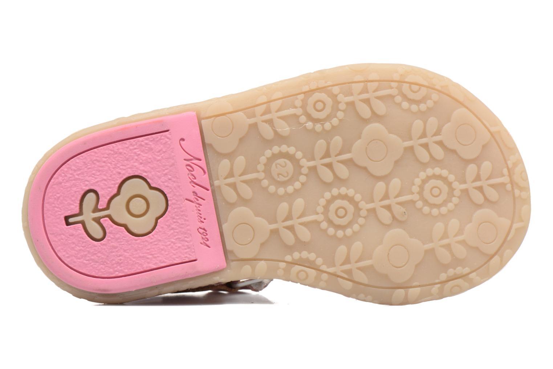 Sandales et nu-pieds Noël Mini Serva Rose vue haut
