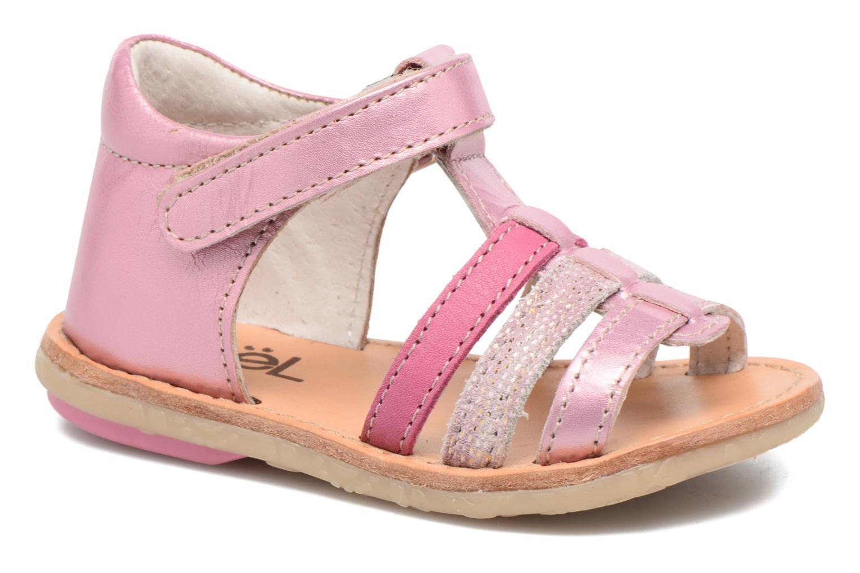 Sandales et nu-pieds Noël Mini Serva Rose vue détail/paire
