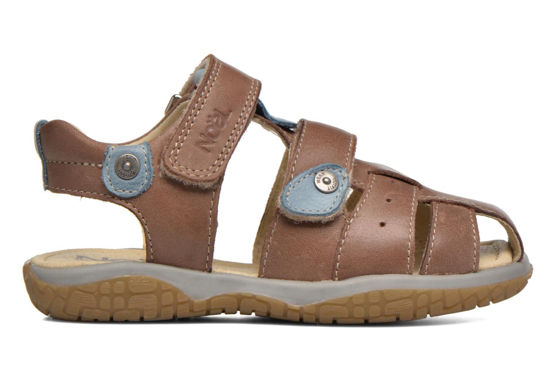 Sandales et nu-pieds Noël Tyler Marron vue derrière