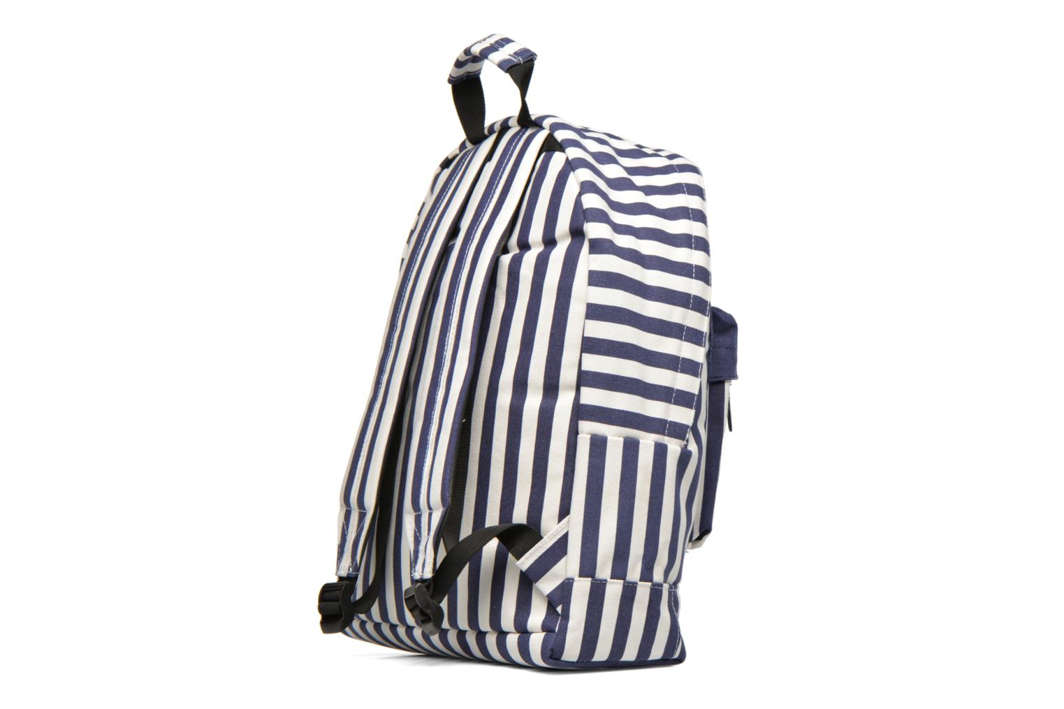 Rucksacks Mi-Pac Premium Seaside Stripe Backpack Blue view from the right