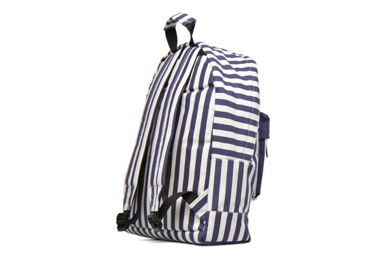 Sacs à dos Mi-Pac Premium Seaside Stripe Backpack Bleu vue droite