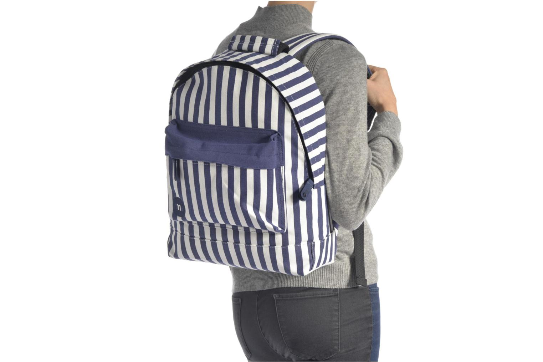Sacs à dos Mi-Pac Premium Seaside Stripe Backpack Bleu vue haut