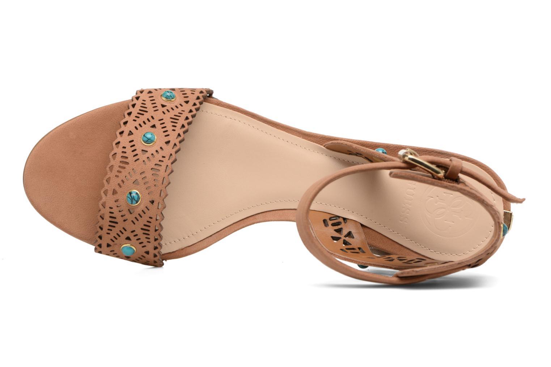 Sandales et nu-pieds Guess NADDA Marron vue gauche