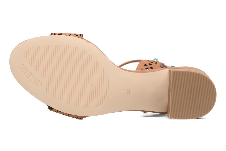 Sandales et nu-pieds Guess NADDA Marron vue haut